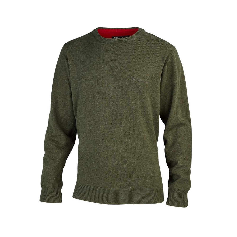 Brighton kötött pulóver, kereknyakú, zöld, S